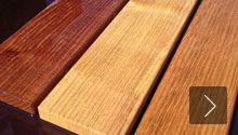 Terrace decking, bonded robinia